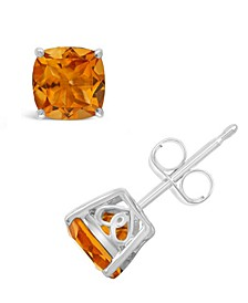 Citrine (1-3/4 ct. t.w.) Stud Earrings in Sterling Silver. Also Available in Peridot, Sky Blue Topaz, Garnet, Rose Quartz and Amethyst