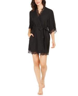 Lace Trim Short Robe