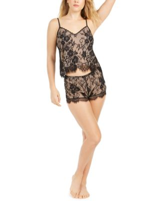 INC Lace Camisole & Shorts Pajamas Set, Created For Macy's