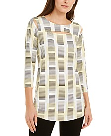Printed Cutout Top, Created For Macy's