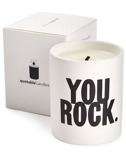 Quotable You Rock Candle