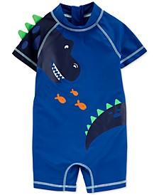 Baby Boys 1-Pc. Dinosaur-Print Rash Guard