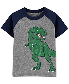 Toddler Boys Dinosaur-Print Raglan-Sleeve T-Shirt
