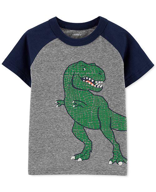 Carter's Toddler Boys Dinosaur-Print Raglan-Sleeve T-Shirt