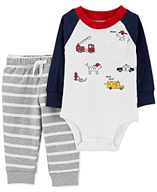 Baby Boys 2-Pc. Cotton Heroes Bodysuit & Jogger Pants Set
