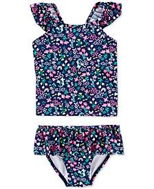Baby Girls 2-Pc. Floral-Print Tankini Swim Suit