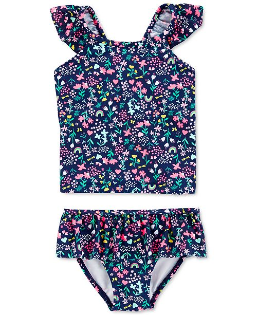 Carter's Baby Girls 2-Pc. Floral-Print Tankini Swim Suit