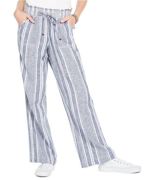Sound/Style Smocked Wide-Leg Beach Pants