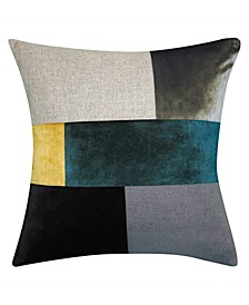 Canaby Colorblock Velvet Decorative Pillow