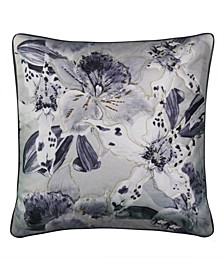 Lily Beaded Floral Decorative Pillow