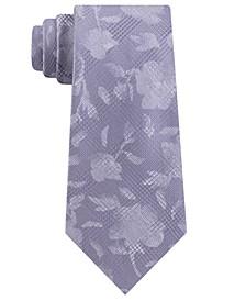 Men's Classic Botanical Glen Check Silk Tie