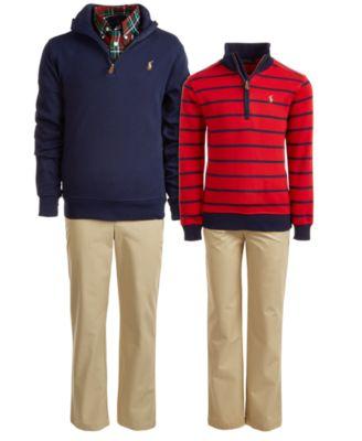 Little Boys Cotton Interlock Stripe Pullover