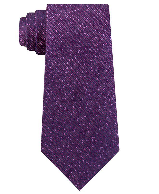 Calvin Klein Men's Slim Knit Silk Tie