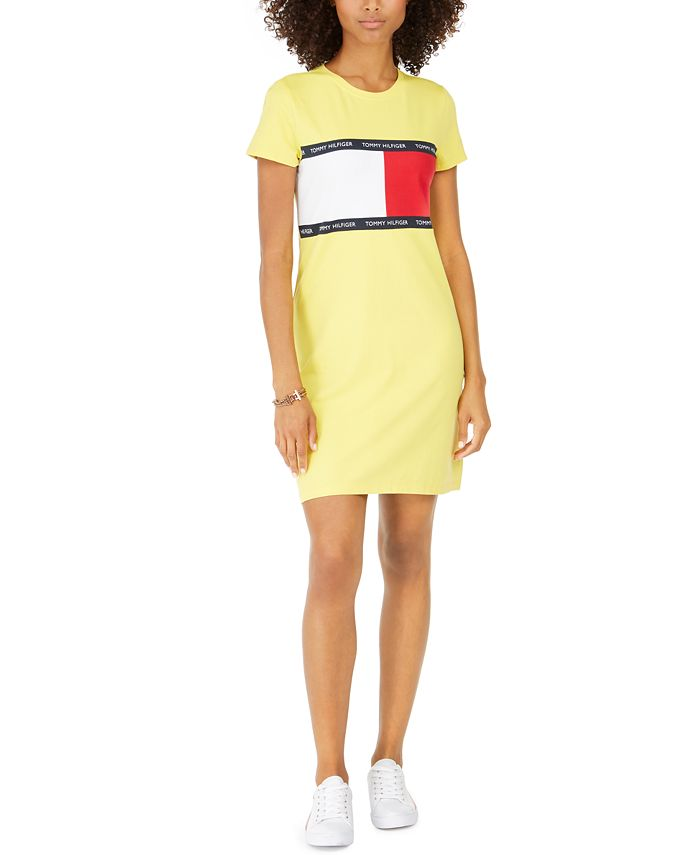 Girls taking off their clothes tif Tommy Hilfiger Signature Graphic T Shirt Dress Created For Macy S Reviews Dresses Women Macy S