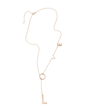 Loving yourself isn\\\'t vanity, it\\\'s sanity. Finish your look with this cool, timeless adjustable love lariat from Adornia.