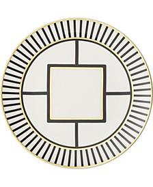 Metro Chic Salad Plate Stripe Rim