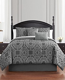Liam Reversible King 4 Piece Comforter Set