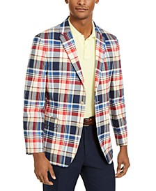 Men's Modern-Fit THFlex Stretch Madras Plaid Sport Coat