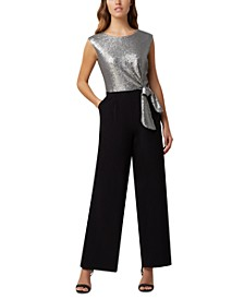 Sequinned Straight-Leg Jumpsuit
