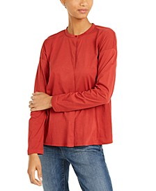 Organic Cotton Mandarin-Collar Top