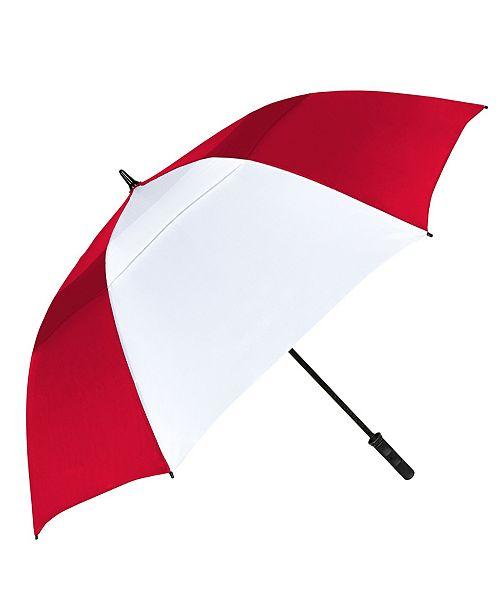 """Natico Originals Red with White Vented Tornado Umbrella 64"""""""