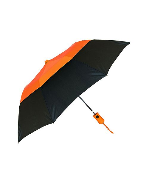 Natico Originals Orange with Black Vented Crown Umbrella 42""