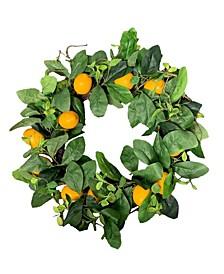 "22"" D Lemon Wreath"