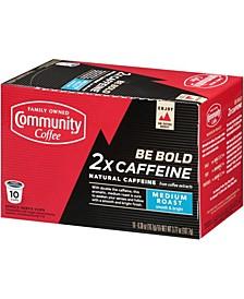 2X Caffeine Medium Roast Single Serve Pods, Keurig K-Cup Brewer Compatible, Pack of 60