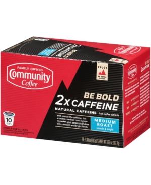 Community Coffee 2X Caffeine Medium Roast Single Serve Pods, Keurig K-Cup Brewer Compatible, Pack of 60