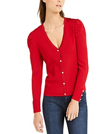 INC Puff-Sleeve Cardigan, Created For Macy's