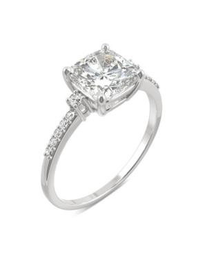 Moissanite Cushion Engagement Ring 1-3/4 ct. t.w. Diamond Equivalent in 14k White Gold