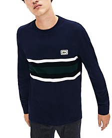 Bold Stripe Colorblocked Long Sleeve Tee Shirt