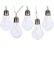 5-Light 4-Inch Warm White Edison Bulb Fairie Light Set