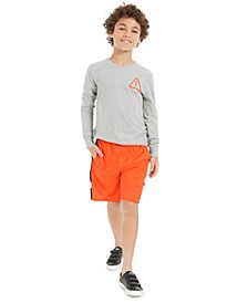 Big Boys Graphic-Print T-Shirt &  Mesh-Inset Shorts, Created For Macy's