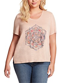 Trendy Plus Size Ace Tulip-Sleeve Graphic T-Shirt