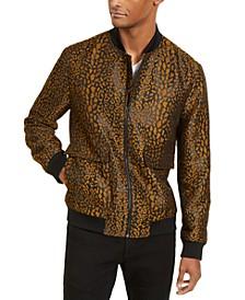 INC Men's Leopard Brocade Bomber Jacket, Created for Macy's
