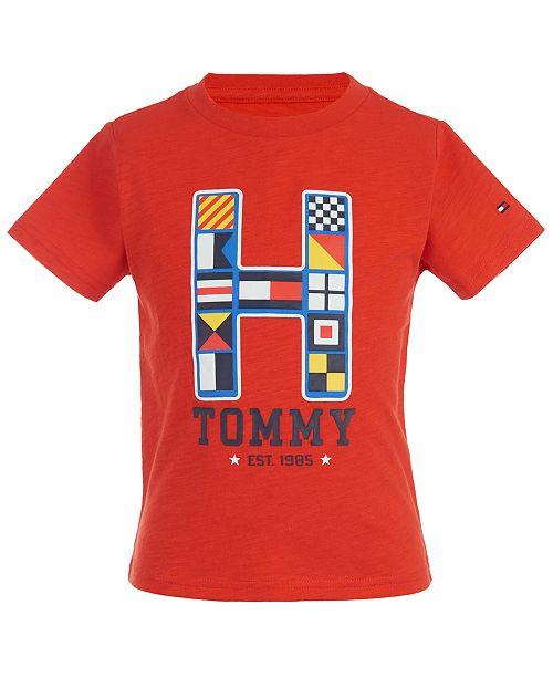 Tommy Hilfiger Baby Boys Cotton Logo-Print T-Shirt