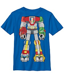 Voltron Big Boy's Defender of The Universe Costume Vintage-Like Short Sleeve T-Shirt
