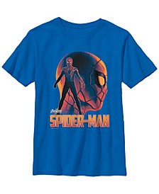 Marvel Big Boy's Infinity War Iron Spider Head Profile Short Sleeve T-Shirt