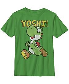 Nintendo Big Boy's Super Mario Yoshi Intro Jump Short Sleeve T-Shirt
