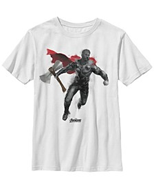 Marvel Big Boys Avengers Endgame Thor Spray Paint Short Sleeve T-Shirt