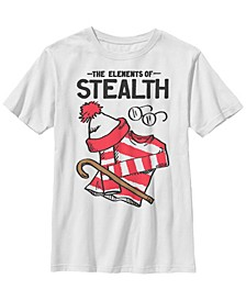 Where's Waldo Big Boy's The Element of Stealth Short Sleeve T-Shirt