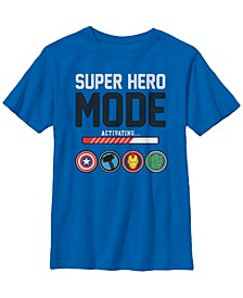 Marvel Big Boy's Avengers Assemble Icon Suer Hero Mode Short Sleeve T-Shirt