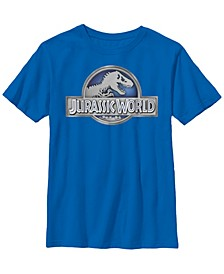 Jurassic World Big Boys Classic Metal Coin Logo Short Sleeve T-Shirt