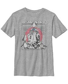 Star Wars Big Boy's Last Jedi Flock of Porgs Surround R2-D2 Short Sleeve T-Shirt