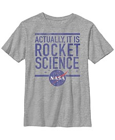 Nasa Big Boy's Actually It Is Rocket Science Short Sleeve T-Shirt