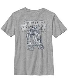 Star Wars Big Boy's Robot Life R2-D2 Short Sleeve T-Shirt