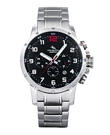 Men's Summertime Stainless Steel Performance Timepiece Watch 46mm