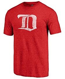 Men's Detroit Red Wings Vintage Tri-Blend Prime Logo T-Shirt