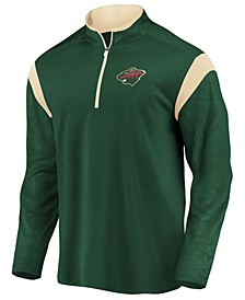 Men's Minnesota Wild Defender Half-Zip Pullover